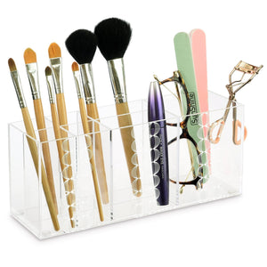 #COMP2256 Clear Acrylic Makeup Organizer with Circular Decals