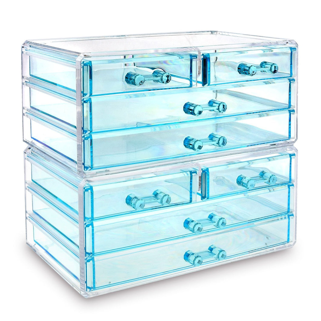 #COMS4297BL Jewelry & Makeup Organizer Drawer, Blue