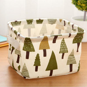 Cotton Linen Home Storage Box Clothes  Folding Office Desk Organizer 5 Colors Makeup Organizer