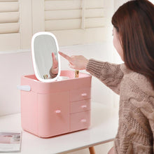 Load image into Gallery viewer, Multifunctional Makeup Organizer Large Cosmetic Jewelry Storage with LED Mirror