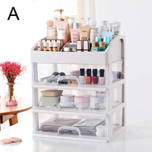 Load image into Gallery viewer, Household Makeup Organizer Plastic Cosmetic Storage Jewelry Display Box with Drawer