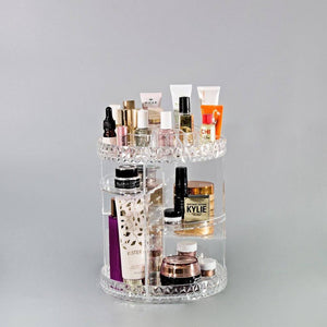Makeup Organizer 360-Degree Rotating Cosmetic Storage Box