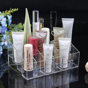 24 Lipstick Holder Display Stand Clear Acrylic makeup Organizer Make up Case Cosmetic Organizer Case makeup Lipstick case