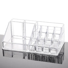 Load image into Gallery viewer, Msjo Storage Boxes  Acrylic Makeup Box 16 Lattice  Jewelry Makeup Organizer Storage Box Lipstick Cosmetic   Make  Up  Organizers