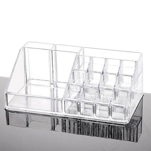 Msjo Storage Boxes  Acrylic Makeup Box 16 Lattice  Jewelry Makeup Organizer Storage Box Lipstick Cosmetic   Make  Up  Organizers