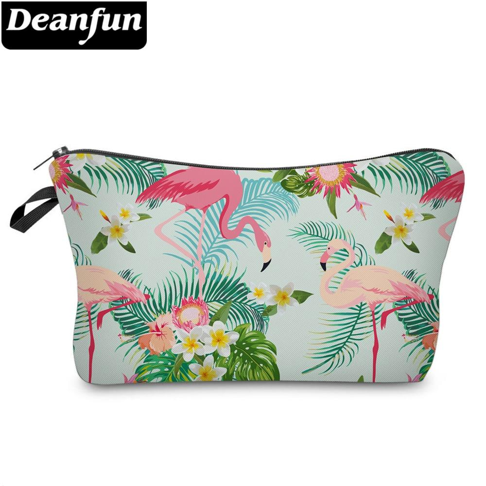 Deanfun Women Cosmetic Bags Flamingo Printed Polyester Makeup Organizer for Travelling  51302