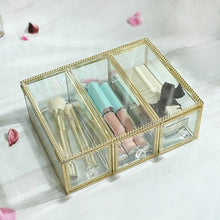 Load image into Gallery viewer, Glass Luxury Transparent Makeup Organizer