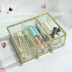 Glass Luxury Transparent Makeup Organizer