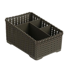 Load image into Gallery viewer, 1 Pc Rattan Office Debris Baskets Cosmetics Remote Storage Makeup Organizer For