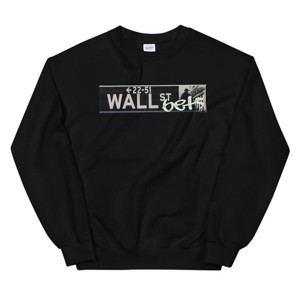 Money Bets Sweater-WallStreetBets-Black-S-WallStreetBets