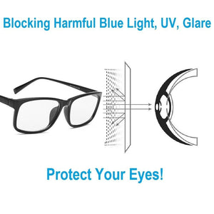 Computer & Gaming Glasses - Anti Radiation Crystal Clear Gaming Glasses With 100% UV Protection Buy One Get One Free