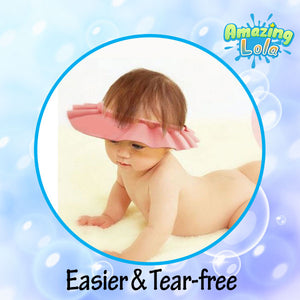 No Tears Adjustable Baby Shower Cap