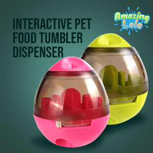Interactive Pet Food Tumbler Dispenser