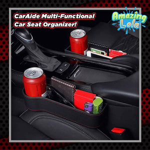 CarAide Multi-functional Car Seat Organizer