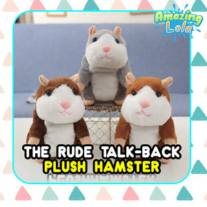 The Rude Talk-Back Plush Hamster