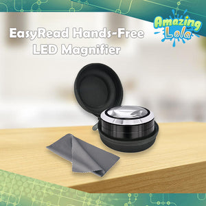 EasyRead Hands-Free LED Magnifier