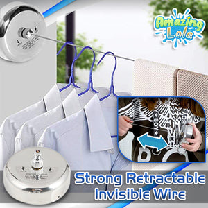 InvisiLine Indoor Retractable Clothesline
