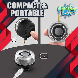 Crystal Audio Compact Portable Speaker