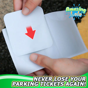Stick-On Car Ticket Holder