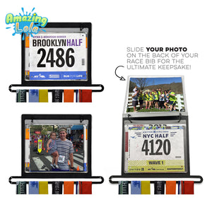 Runner's Medal and Bib Display Holder