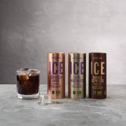 Löfbergs ICE iced coffees made with organic and fairtrade coffee and sustainable packaging!