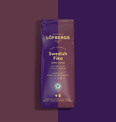 Löfbergs Dark Roast Ground Coffee 1x250g - Organic Goods Marketplace