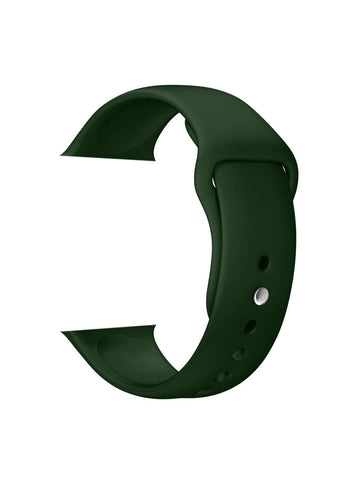 Silicone Sports Watch Strap for Apple Watch Series 5/4/3/2/1 (Bottle Green)