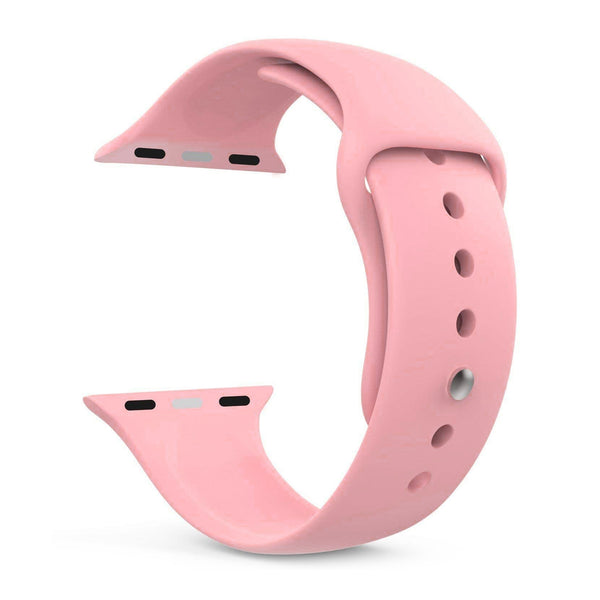 Silicone Sports Watch Strap for Apple Watch Series 5/4/3/2/1(Baby Pink)