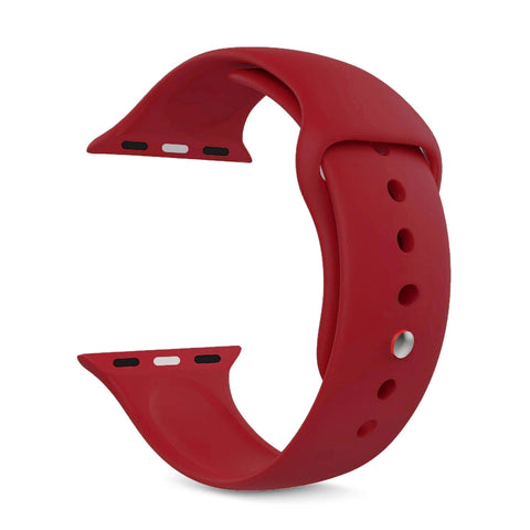 Silicone Sports Watch Strap for Apple Watch Series 5/4/3/2/1 (Burgundy)