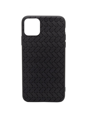 iPhone 11 Silicone Natted Pattern Black iPhone Case By Treemoda