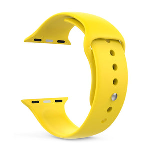 Silicone Sports Watch Strap for Apple Watch Series 5/4/3/2/1 (Yellow)