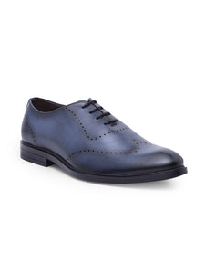 Treemoda Blue Leather Brogues For Men