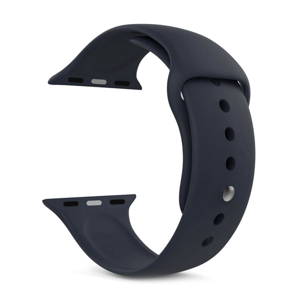 Silicone Sports Watch Strap for Apple Watch Series 5/4/3/2/1 (Iron Grey)