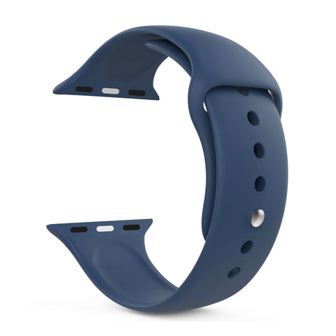Silicone Sports Watch Strap for Apple Watch Series 5/4/3/2/1 (Air Force Blue)