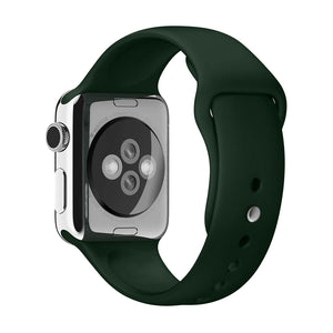 Silicone Sports Watch Strap for Apple Watch Series 5/4/3/2/1 (Dark Green)