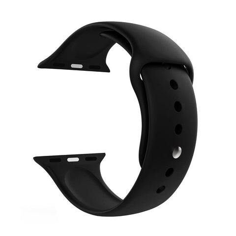 iWatch Soft Silicone Strap Compatible with Apple Watch (Black)