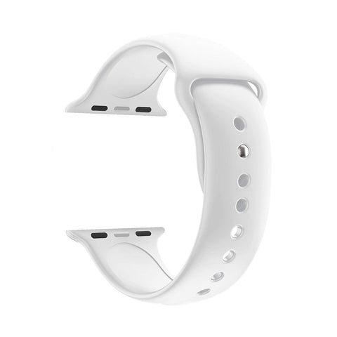 Silicone Sports Watch Strap for Apple Watch Series 5/4/3/2/1(White)