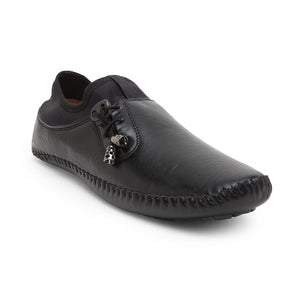 Treemoda Black Solid Loafers For Men