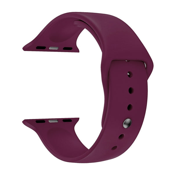 Silicone Sports Watch Strap for Apple Watch Series 5/4/3/2/1 (Jam Pink)