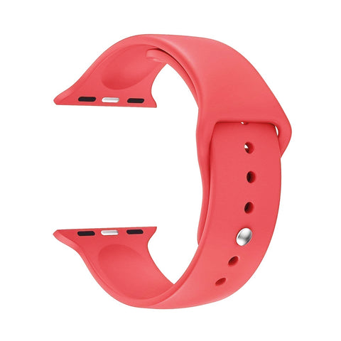 Silicone Sports Watch Strap for Apple Watch Series 5/4/3/2/1 (Coral Pink)