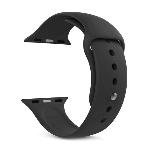 Silicone Sports Watch Strap for Apple Watch Series 5/4/3/2/1 (Dark Grey)