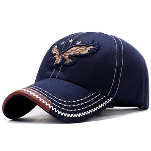 2019 New Heavy Washed Denim 3D  Eagle Embroidery Baseball Caps for Men
