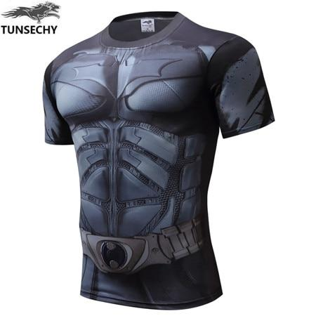 2019 men summer gym casual 3D T-shirt gym fitness muscle men short sleeve T-shirt top clothing
