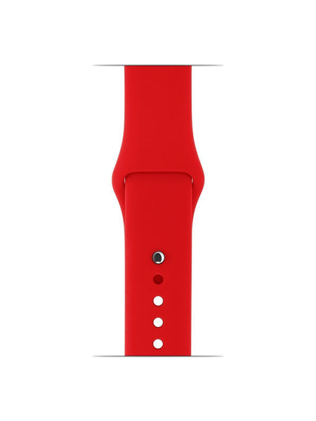 Silicone Sports Watch Strap for Apple Watch Series 5/4/3/2/1(Red)