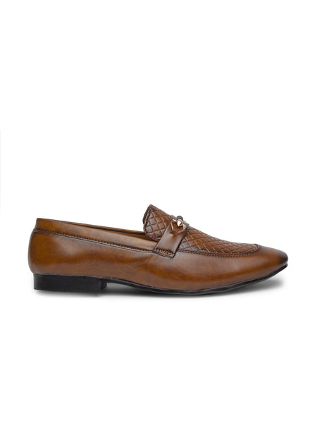 Treemoda Tan Semi Formal Loafers For Men