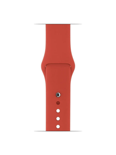 iWatch Soft Silicone Strap Compatible with Apple Watch (Coral)