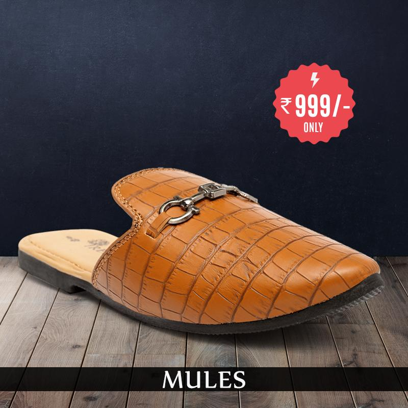 Treemoda Tan Mules for Men/Boys
