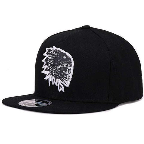 Embroidery Skull baseball caps hats hip hop snapbacks flat sports snapback caps for men