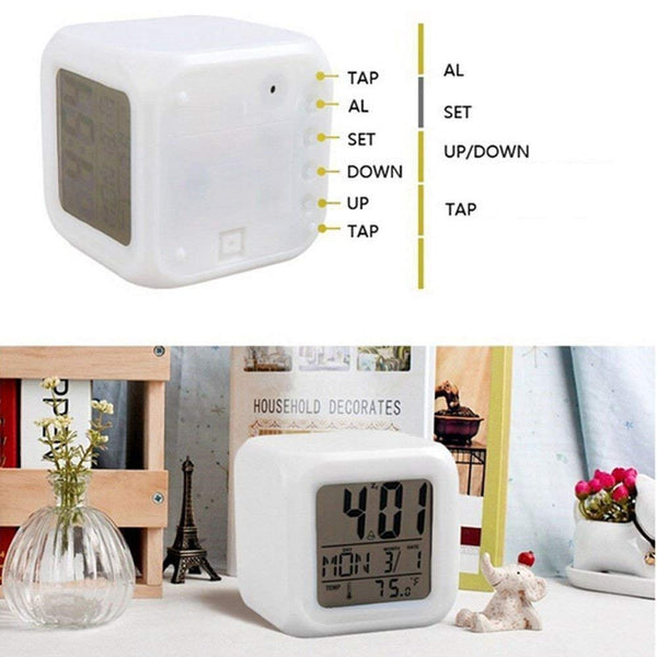 Colour Changing LED Digital Alarm Clock