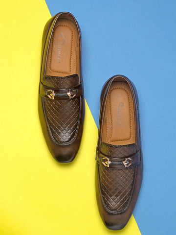 Treemoda Brown Semi Formal Loafers For Men